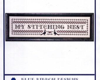Blue Ribbon Designs: My Stitching Nest - Cross Stitch Pattern