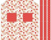 Ooh La La Riley Blake  Fabric Yardage, APRON PANEL, Red, C4862