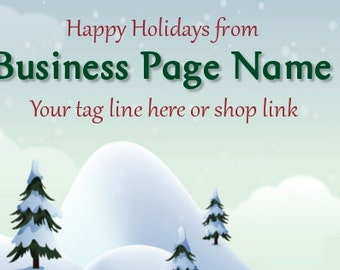 Ready Made Holiday Christmas Winter Facebook Cover Photo - You Pick One