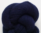 Naval Blue Cashmere Lace Weight Recycled Yarn