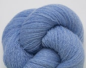 Cashmere Yarn, Heather Sky Blue Recycled Lace Weight Cashmere Yarn, 2284 Yards Available