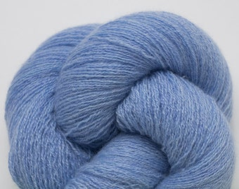 Reserved Cashmere Yarn, Heather Sky Blue Recycled Lace Weight Cashmere Yarn, 2284 Yards Available
