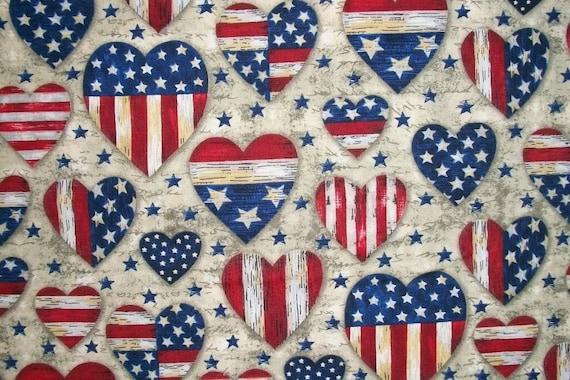 Patriotic Americana Fabric Stars Stripes By The Yard Patriotic