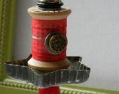 Spool Ornament - Upcycled Ornament - Hanging Decor - Home Decor by Jen Hardwick