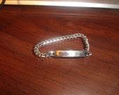 vintage bracelet silvertone chain identification id