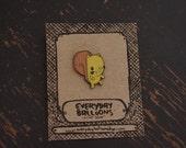 squirrel pin, squirrel enamel pin, squirrel lapel pin, cute enamel pin, stocking stuffer