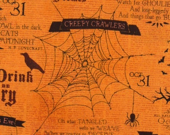 Something Wicked,  Halloween Fabric, Wilmington Fabrics, Halloween Motifs, Halloween News, Witches, Skulls, Ravens, Spiders, By the Yard