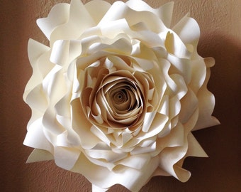 giant paper wall flower wall decor wedding decor party decor event decor