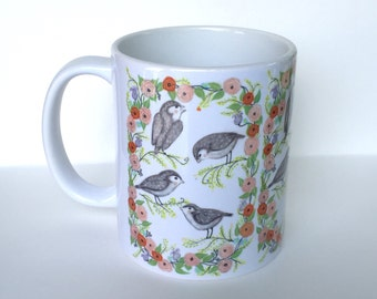 Blushing Birds Coffee Mug