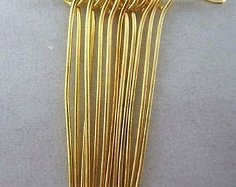 30mm Gold Plated Eye Pin-100 PCS