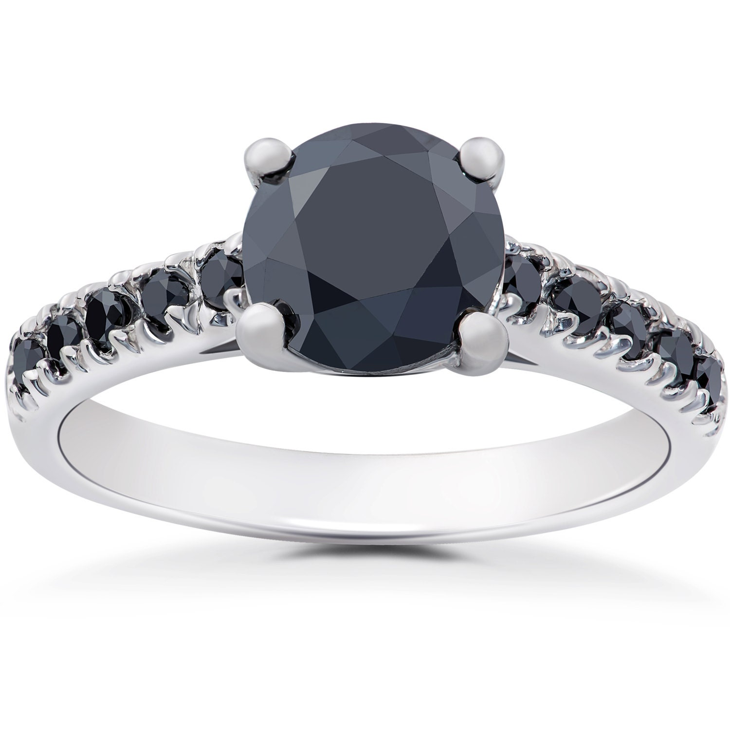 Black Diamond Engagement Ring Black Diamond Ring Diamond