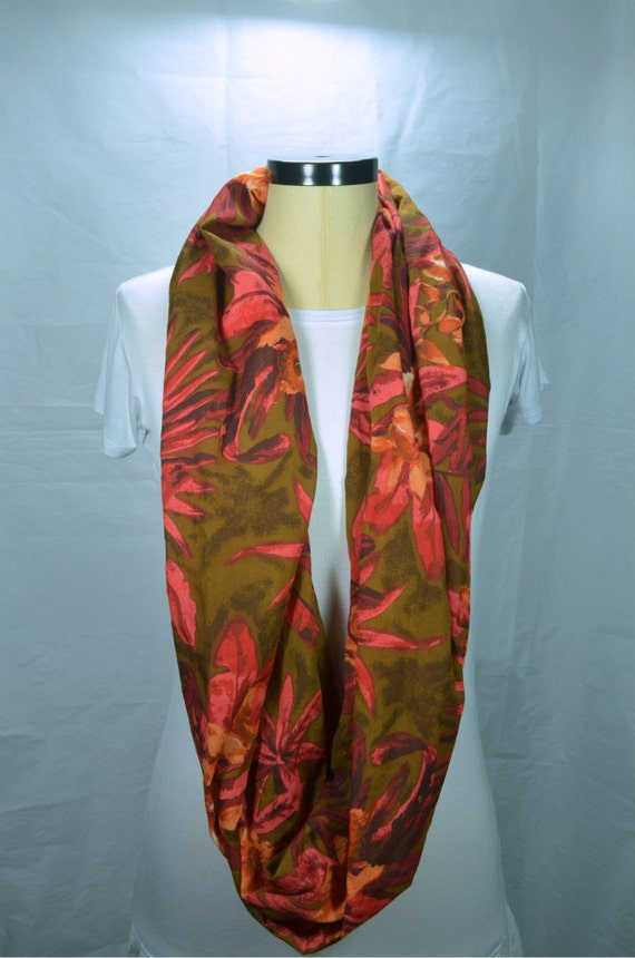 lightweight cotton infinity scarf loop scarf tropical scarf