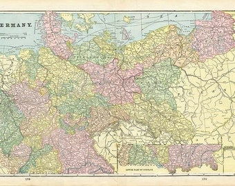 GERMANY 1899 - GREECE and AUSTRIA maps -  Book plates