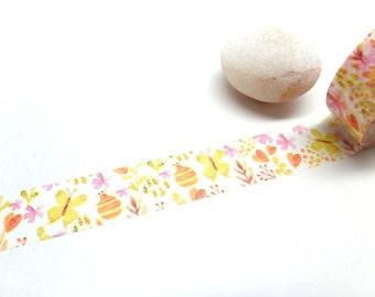 Watercolor Garden Washi Tape,  15mm x 10m