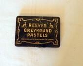 Reeves Greyhound Pastels Small Tin Dog Collectible London British Rectangular Vintage Decor