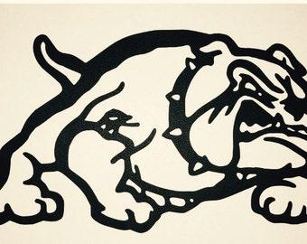 Bull Dog, Metal Art, Wall Decor, Bulldog metal art, Bulldog LARGE DESIGN