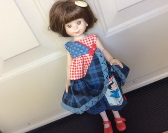 """Doll clothes, 14"""" Tonner, Betsy McCall, Wellie Wisher, spunky girly pocket"""