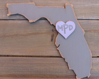 "12"" Custom Wooden State - Wedding Decor and Guestbook"