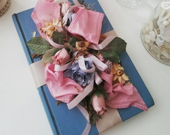 Antique Altered Book, Shabby Chic Altered Book, Victorian Floral Book, Wedding Book, Millinery Rose's Book, Antique Book