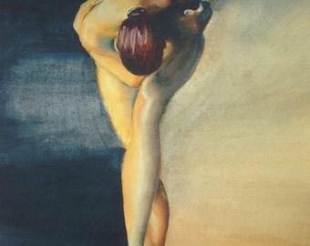 "Ballerina Giclee Print, Fine Art Print, 8x1.5"" print, Dancer Painting, Ballerina Painting, Ballerina Watercolor, Dancer Watercolor"