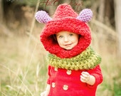 Caterpillar hood, caterpillar hat, Crochet caterpillar, caterpillar cowl, very hungry caterpillar, unique kids gifts, animal hood,