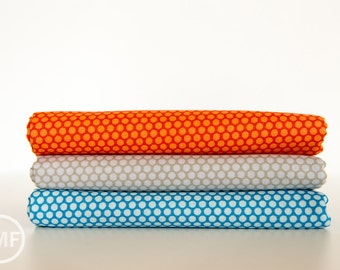 Scenic Route Dots Half Yard Bundle , 3 Pieces, Deena Rutter, Riley Blake Designs, 100% Cotton Fabric, C3665