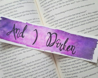 And I Darken Watercolor Bookmark, Young Adult Books