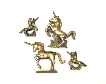 Vintage Brass Unicorn Collection