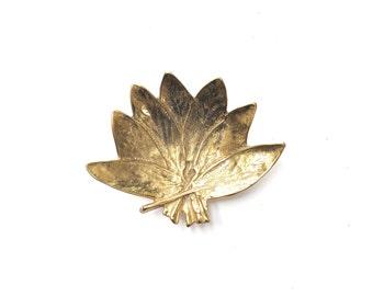 Virginia Metalcrafters Brass Sage Leaf Dish