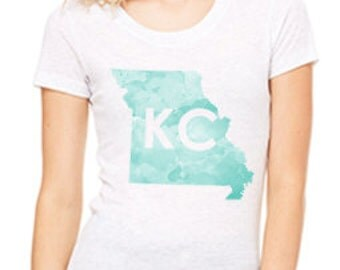 KC Watercolor Women's tee