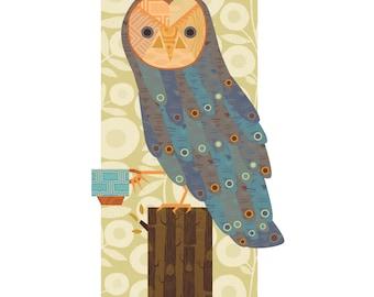 Hooty Tea Fine Art Print