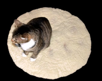 Tortilla Cat Bed - Wool Felt Cat Mat - For the Purrito in Your Life
