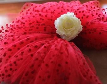 Valentine Red Polka Dot Tutu Skirt, Hot Pink Polka Dot Tutu Skirt, wedding, photo pro, flower girl, girls and adult tutu