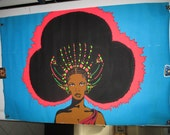 """Reserved for BVLEY """"Afro Queen"""" Original Vintage Poster"""
