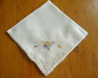 Handkerchief Hanky Hankie Vintage Hankys Hankies Antique Handkerchief Handkerchief Embroidered