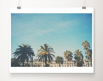 palm tree photograph France photograph Nice photograph french decor travel photography architecture photograph palm tree print