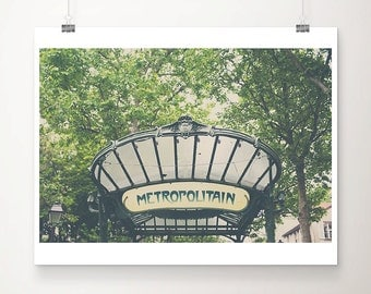 paris photograph paris decor metro photograph abbesses photograph paris print french decor metro print travel photography