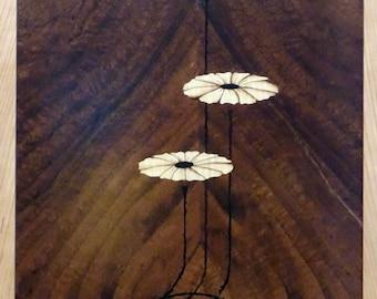 Art nouveau style floral design
