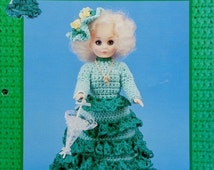 """20%OFF Td Creations JESSICA 15"""" High Fashion Doll - Crochet Doll Dress Clothes Clothing Pattern"""