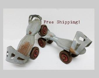 Roller Skates Adjustable Metal Vintage Toy Free Shipping!
