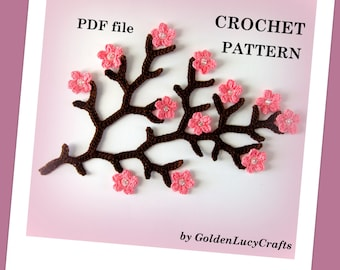 Cherry Branch Crochet PATTERN PDF