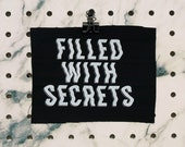 ON SALE--- Filled with Secrets Patch screen printed black canvas Twin Peaks