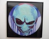 Alien stencil art on vinyl  - Limited Edition of 33