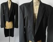 Vintage Tuxedo, Vintage Tux, Black Tuxedo, Black Tux, Ralph Lauren Tuxedo, Groom Tuxedo, Usher Tux, Retro Wedding Tux, Wedding Tuxedo