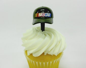 NASCAR Cupcake Toppers - NASCAR Hat Topper - Race Party - Birthday Party - Cupcake - Cupcake Topper - Party - Cupcake - Racing