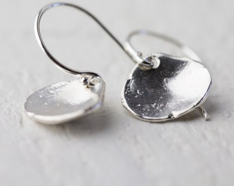Tiny Sterling Silver Sea Shell Earrings, Summer Outdoors Sea Shell Jewelry, Gift for Women, Gift for Her, Beach Jewelry by Burnish