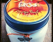 Georgia Peach Scented Soy Wax Candle - 8oz Jar Scented Candle