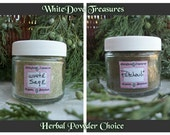 WHITE SAGE POWDER or Patchouli Powder - Fresh Ground Herbal Incense Smudge Organic Protection Purification Clear Chakra Aura 1oz Jar Gift