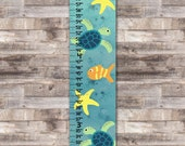 Sea Turtle Ocean Canvas Height Growth Chart