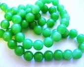 Jade Glass Beads Green Round 10MM